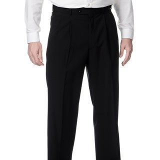 Link to Palm Beach Men's Big & Tall Black Expanded Waist Pleated Front Pants Similar Items in Suits & Suit Separates