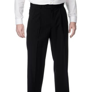 Palm Beach Men's Big & Tall Black Expanded Waist Pleated Front Pants|https://ak1.ostkcdn.com/images/products/8911143/P16129302.jpg?impolicy=medium