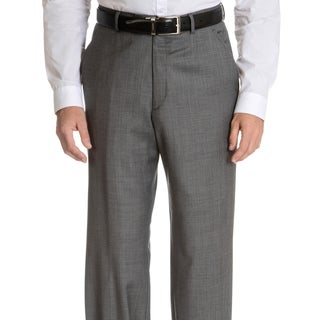 Palm Beach Men's Big & Tall Flat Front Sharkskin Pant