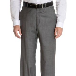 Palm Beach Men's Big & Tall Flat Front Sharkskin Pant
