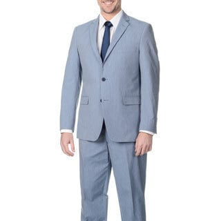 Adolfo Men's Light Navy Pinfeather 2-button Suit