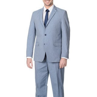 Adolfo Men's Light Navy Pinfeather 2-button Suit (2 options available)