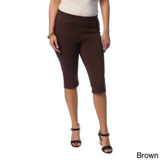 La Cera Women's Plus Size Bermuda Shorts