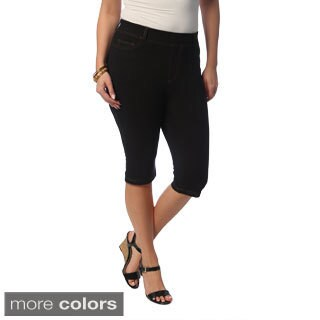 La Cera Women's Plus Size Knee-length Shorts