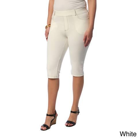 La Cera Women's Plus Size Knee-length Shorts
