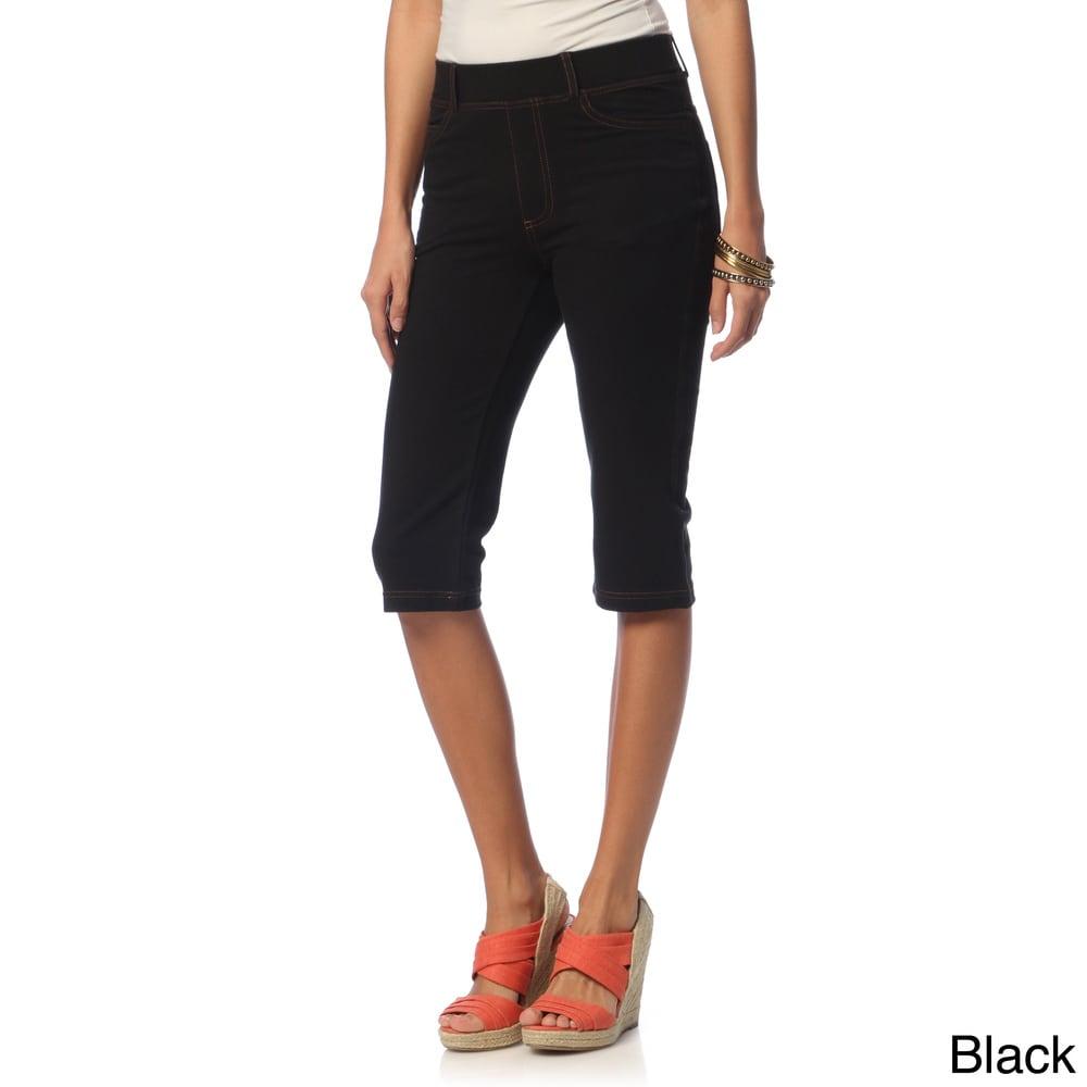 La Cera Womens Missy Tri-blend Knee-length Shorts