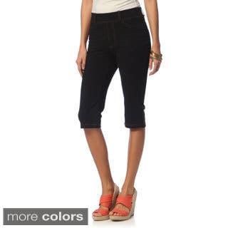 La Cera Women's Missy Tri-blend Knee-length Shorts|https://ak1.ostkcdn.com/images/products/8911208/La-Cera-Womens-Missy-Tri-blend-Bermuda-Shorts-P16129356.jpg?impolicy=medium
