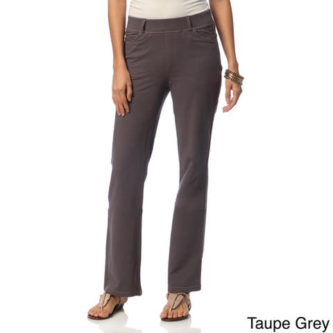 La Cera Women's Stretch Boot-cut Knit Denim Pants