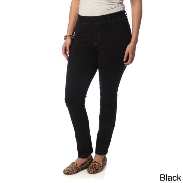 La Cera Women's Plus Size Denim Jeggings. Opens flyout.
