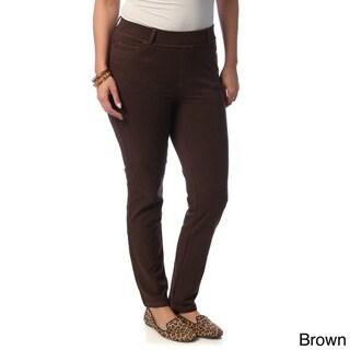 La Cera Women's Plus Size Denim Jeggings