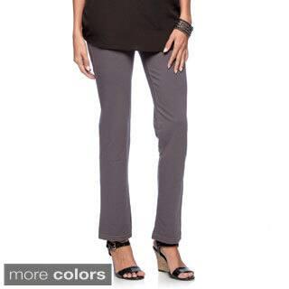 La Cera Women's Denim Knit Jeggings|https://ak1.ostkcdn.com/images/products/8911212/P16129360.jpg?impolicy=medium