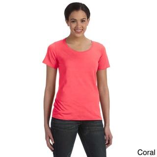 Anvil Women's Sheer Scoop Neck T-shirt