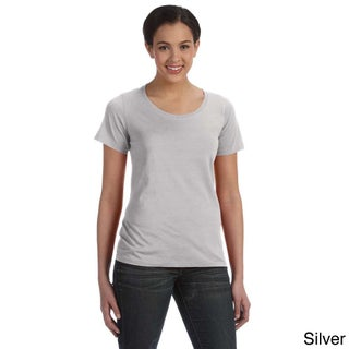 Anvil Women's Sheer Scoop Neck T-shirt (More options available)