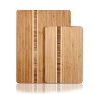Adeco Natural Bamboo Chopping Board (Set of 2)