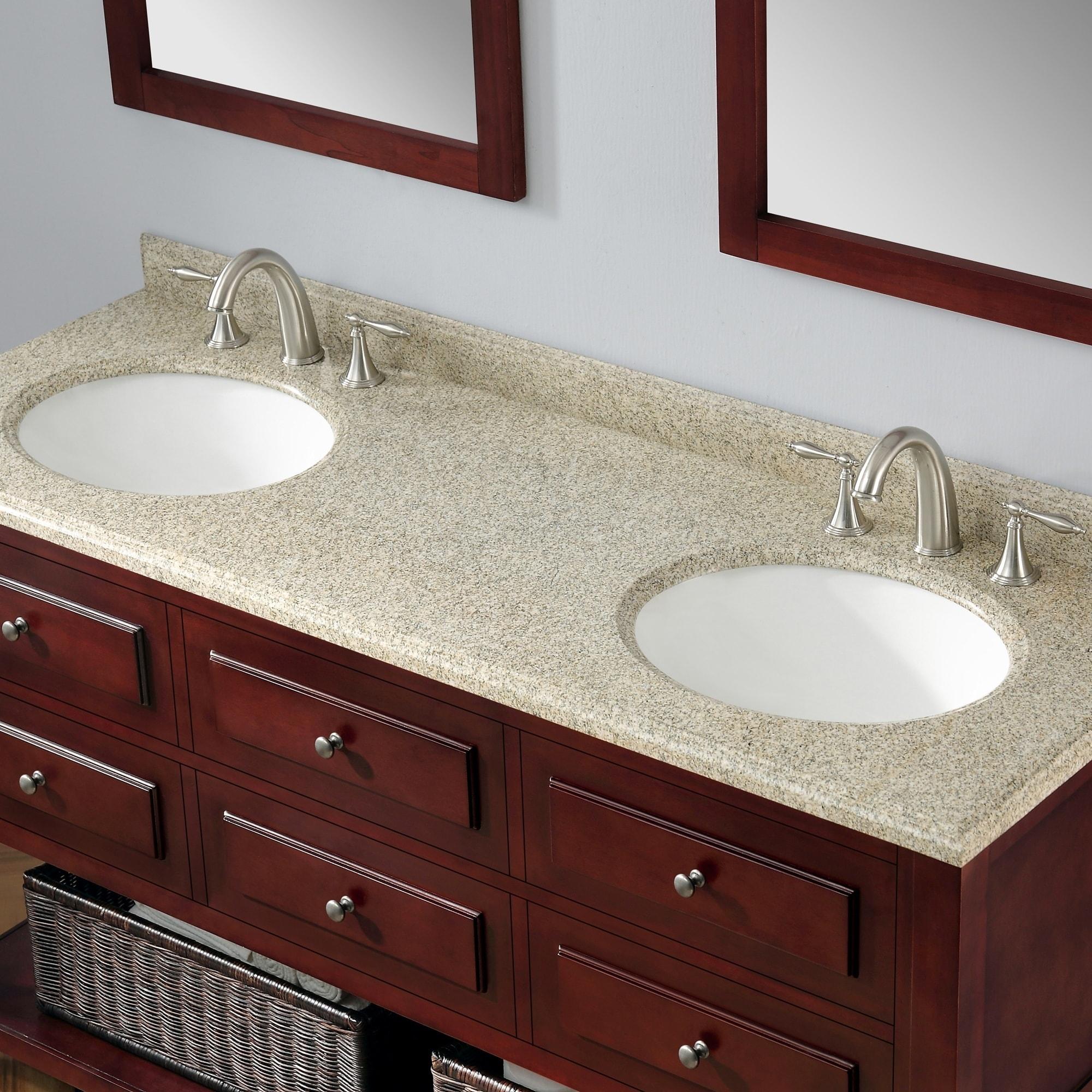 Ove Decors Danny 60 Inch Double Sink Bathroom Vanity Granite