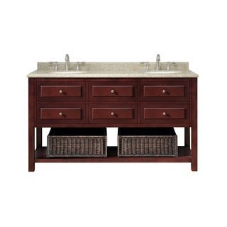 OVE Decors Danny 60-inch Double Sink Bathroom Vanity Granite Top