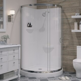 OVE Decors Breeze 38-inch Shower Enclosure with Walls