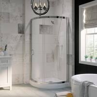 OVE Decors Breeze 34-inch Shower Enclosure with Base and Glass Panels