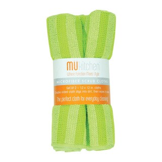 MUkitchen Green Scrub Cloth (Set of 2)