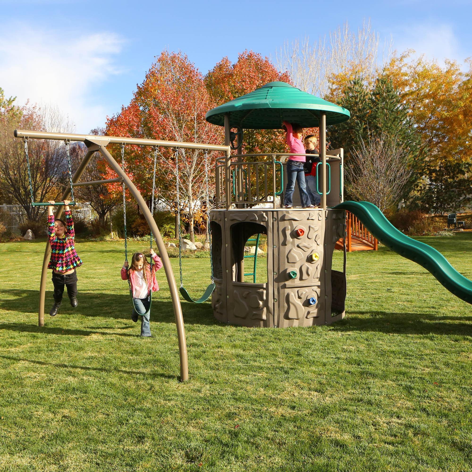 lifetime freestanding swing big sports adventure stuff dp play outdoors com amazon set