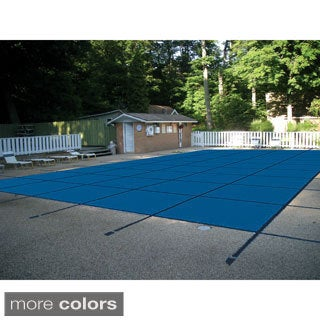 WATERWARDEN 'Made to Last' 18 x 38 ft. Rectangle Mesh In-ground Pool Safety Cover for 16 x 36 ft. Pools