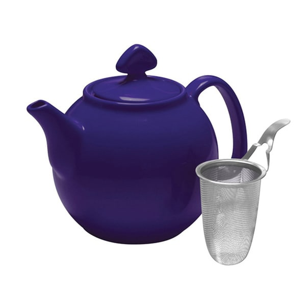 Chantal indigo blue 1 1 2 quart teapot with stainless steel infuser free shipping on orders - Chantal teapots ...