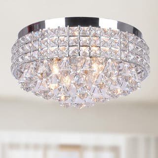 Flush mount lighting for less overstock antonia ornate crystal flush mount chandelier in chrome mozeypictures Choice Image