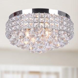 Antonia Ornate Crystal Flush Mount Chandelier in Chrome & Buy Modern u0026 Contemporary Flush Mount Lighting Online at Overstock ...