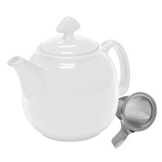 Chantal Glossy White1-1/2-quart Teapot with Stainless Steel Infuser
