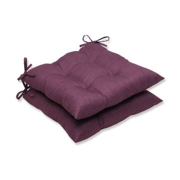Pillow Perfect Outdoor Purple Wrought Iron Seat Cushion Set Of 2