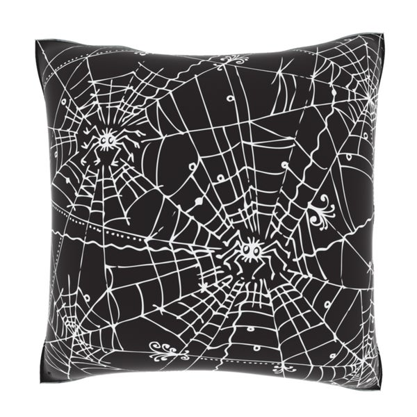 Abstract Spider Web Art 18-inch Velour Throw Pillow
