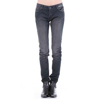 Stitch's Women's Worn Out Vintage Straight Leg Denim Jeans