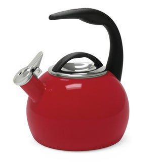 Chantal 40th Anniversary 2-quart Chili Red Enamel on Steel Tea Kettle