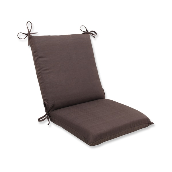 Pillow Perfect Outdoor Brown Squared Corners Chair Cushion