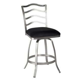 Somette Black Memory Return Swivel Counter Stool