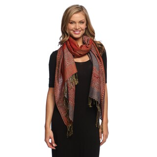 Reversible Braided Fringe Shawl Wrap
