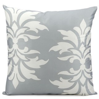 Mina Victory Indoor/Outdoor Damask Grey Throw Pillow (20-inch x 20-inch) by Nourison