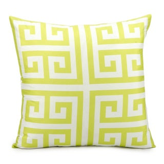 Mina Victory Indoor/Outdoor Greek Key Lime Throw Pillow (20-inch x 20-inch) by Nourison