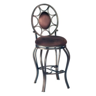 Somette Autumn Rust/ Brown 26-inch Memory Return Swivel Counter Stool