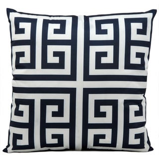 Mina Victory Indoor/Outdoor Greek Key Navy Throw Pillow (20-inch x 20-inch) by Nourison
