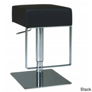Somette Brushed Stainless Steel Adjustable Height Swivel Stool
