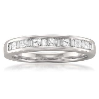 Link to Montebello 14KT White Gold 3/5ct TDW Channel Wedding Band Similar Items in Wedding Rings