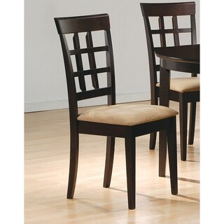 Coaster Company Monarch Cappucino 39-inch Lattice Back Dining Chairs (Set of 2)