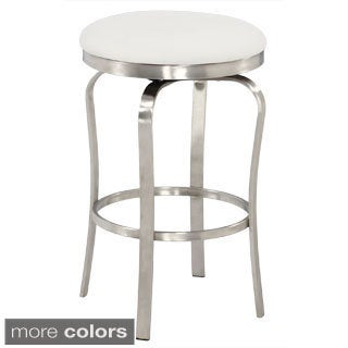 Somette Modern Backless Upholstered Stainless Steel 26-inch Counter Stool