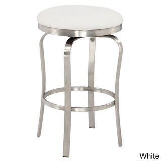 Somette Modern Backless Upholstered Stainless Steel 26-inch Counter Stool (2 options available)