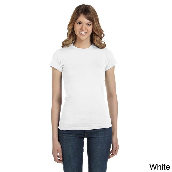 Anvil Women's Semi-sheer Crew Neck T-shirt. Opens flyout.