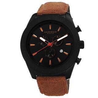 Akribos XXIV Men's Swiss Quartz Chronograph Leather-Suede Orange Strap Watch with FREE GIFT|https://ak1.ostkcdn.com/images/products/8911935/Akribos-XXIV-Mens-Swiss-Quartz-Chronograph-Leather-Suede-Strap-Watch-P16129928.jpg?impolicy=medium