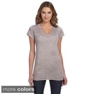 Alternative Women's 'Diane' V-neck Burnout T-shirt