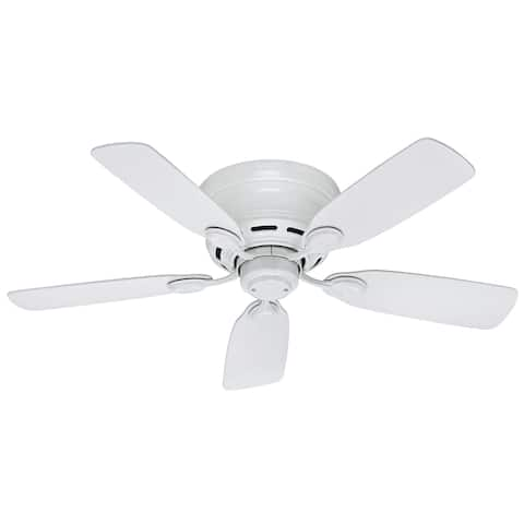 """Hunter 42"""" Low-Profile Ceiling Fan with Pull Chains"""