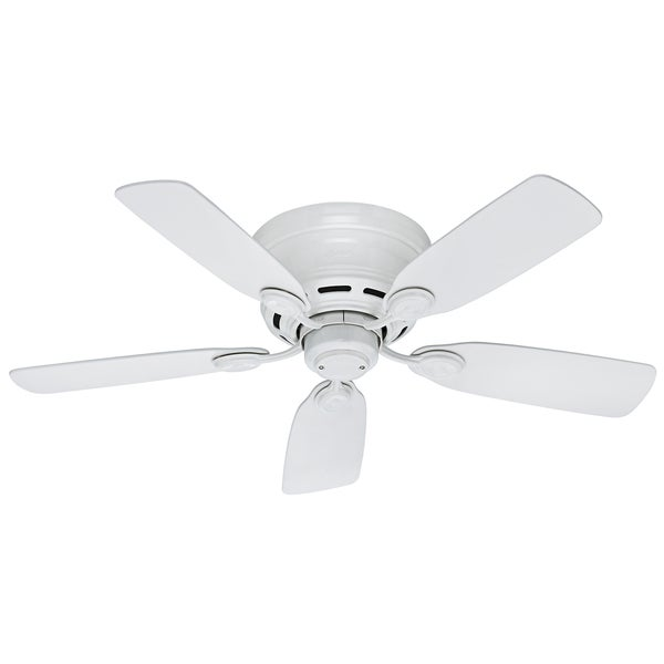 """Hunter 42"""" Low-Profile Ceiling Fan with Pull Chains. Opens flyout."""